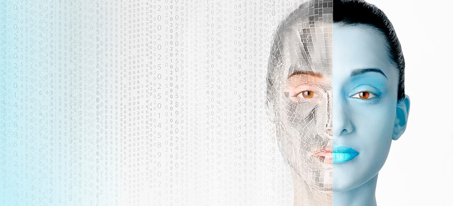 human_robot_digitalization_women_face